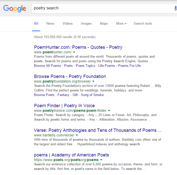 poetry search